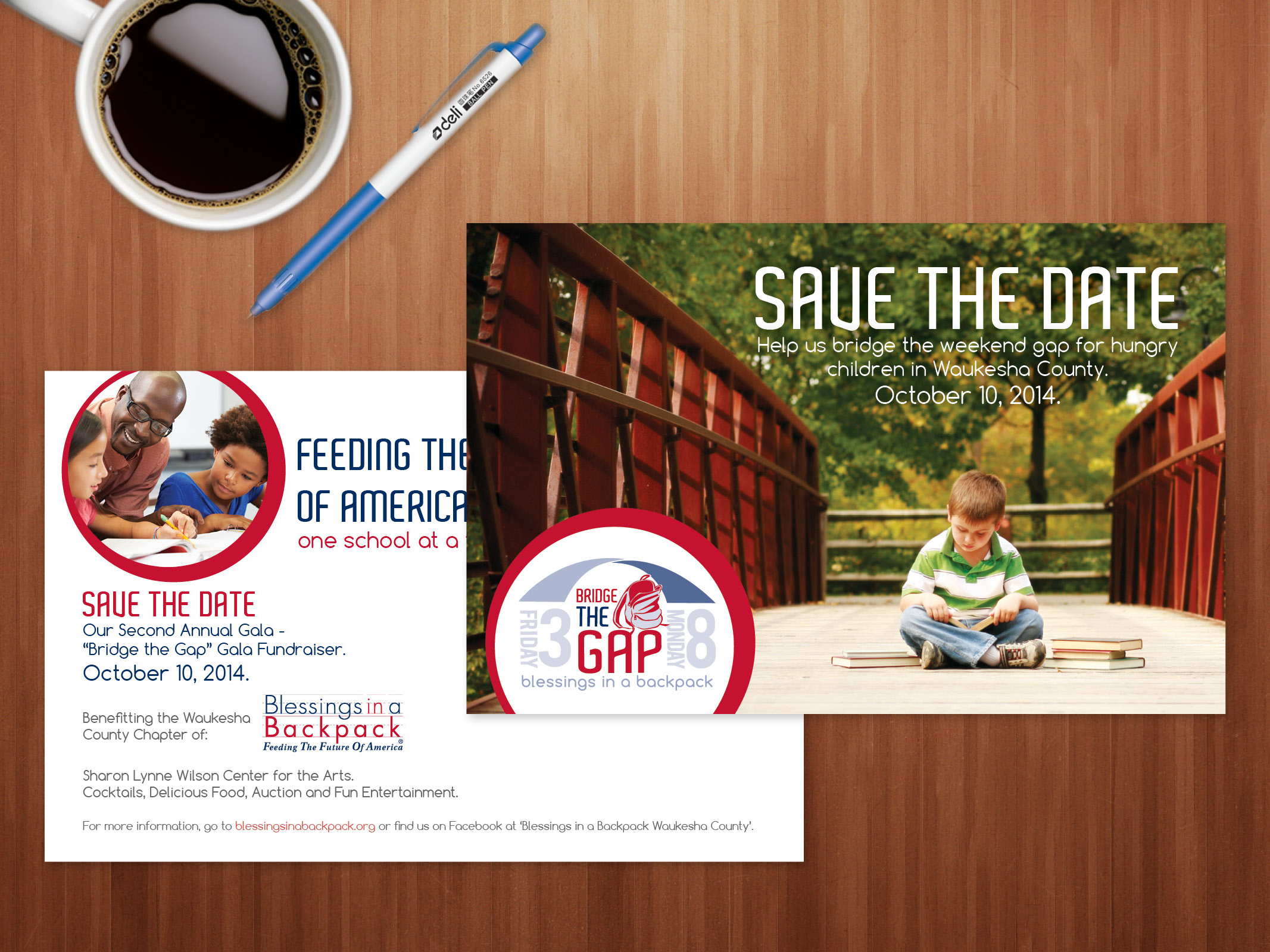 Save The Date Postcard, Event Logo, and Art Direction
