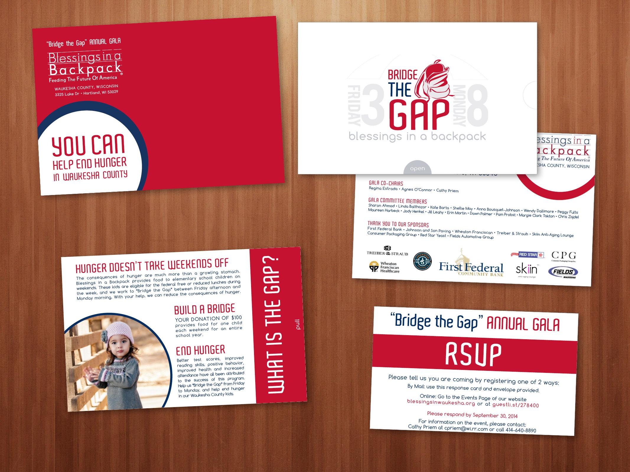 Event Invitations, RSVP, Custom Envelopes, Event Logo, and Art Direction