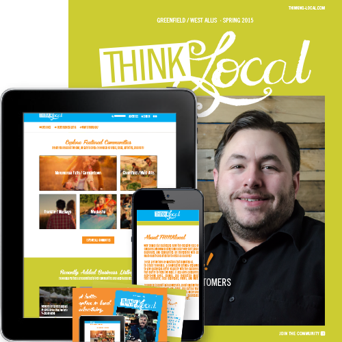 W  ebsite, THINKlocal Partner cards, and Magazine.