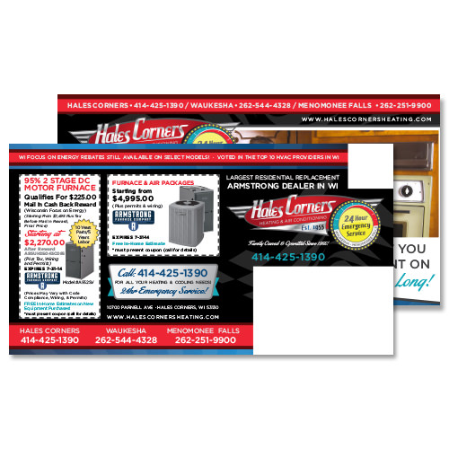 Every Door Direct Full Service Campaign for  Hales Corners Heating