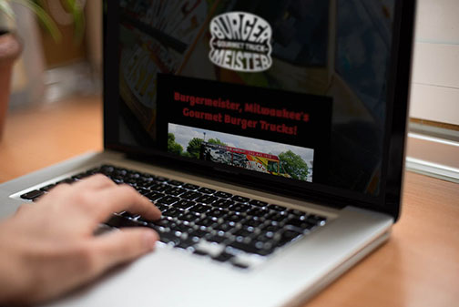 Burgermeister Food Truck - Web Design
