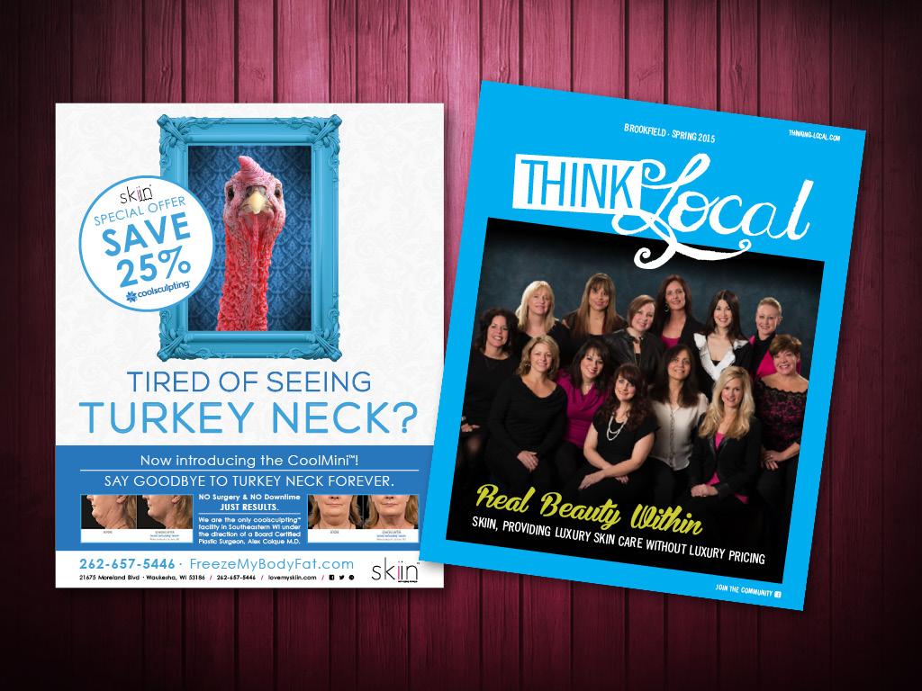 THINKlocal  Magazine Ad Design and Cover Design
