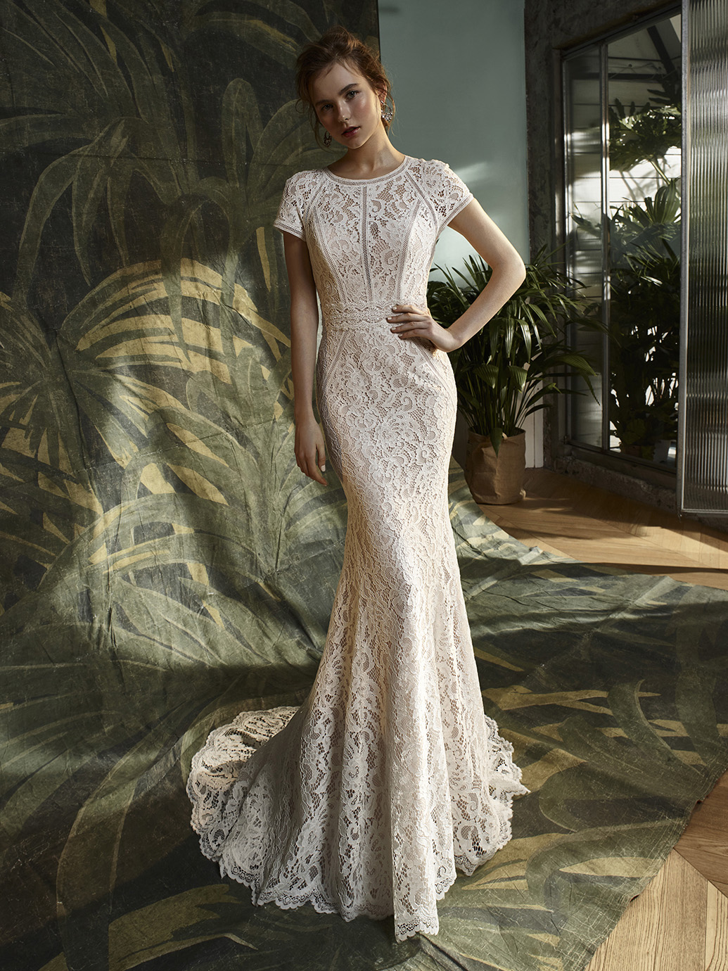 Blue by Enzoani Keaton - there is so many different laces to choose from you are bound to find one you love.