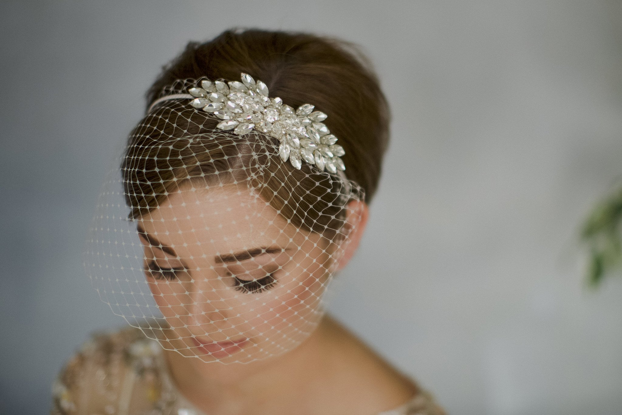fishnet birdcage embellished with crystals