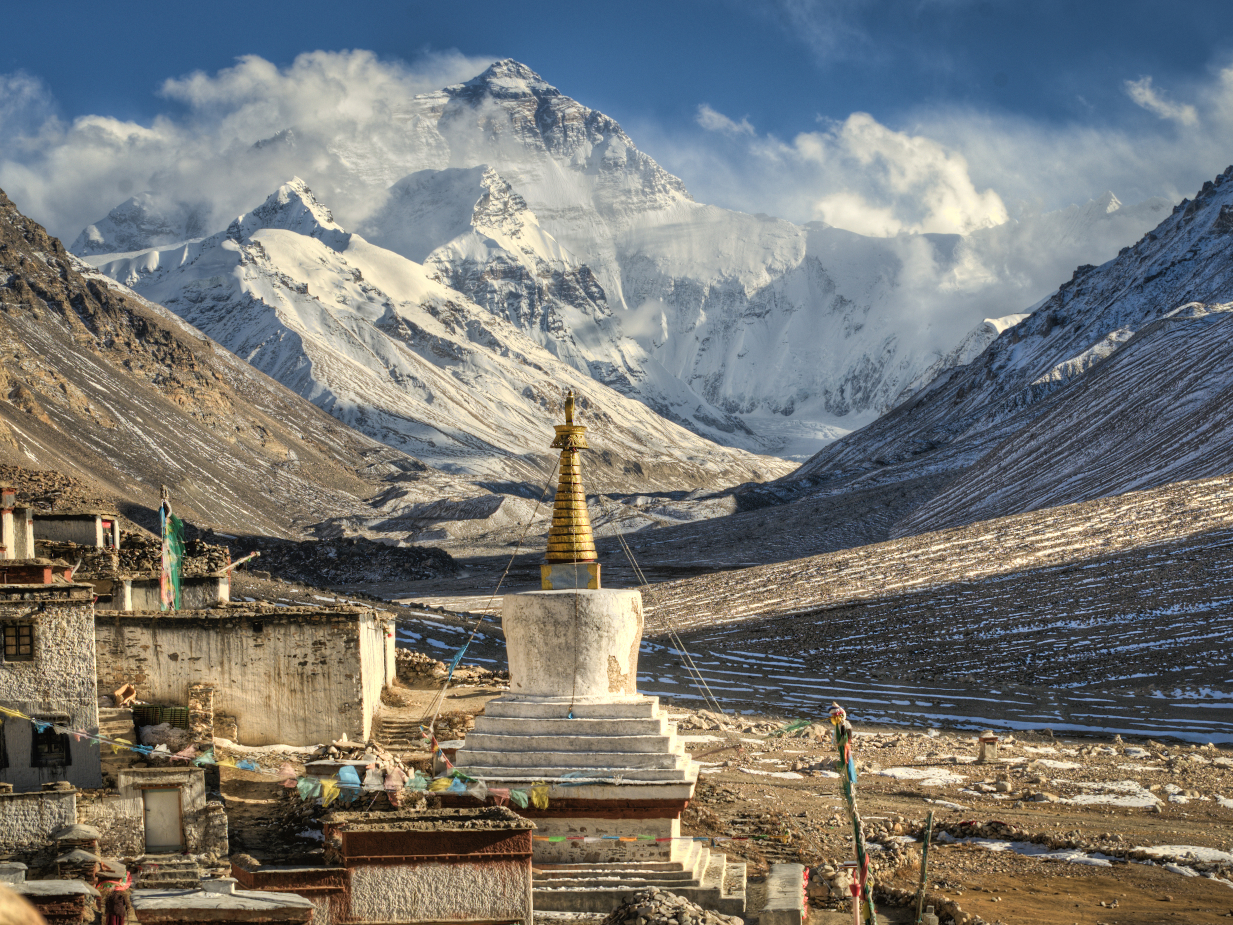 Mount Everest Base Camp at Rongbuk Monastery