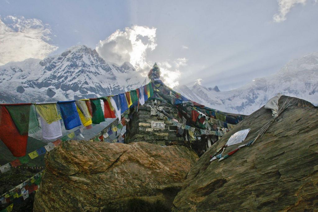 Shrine to a fallen climber