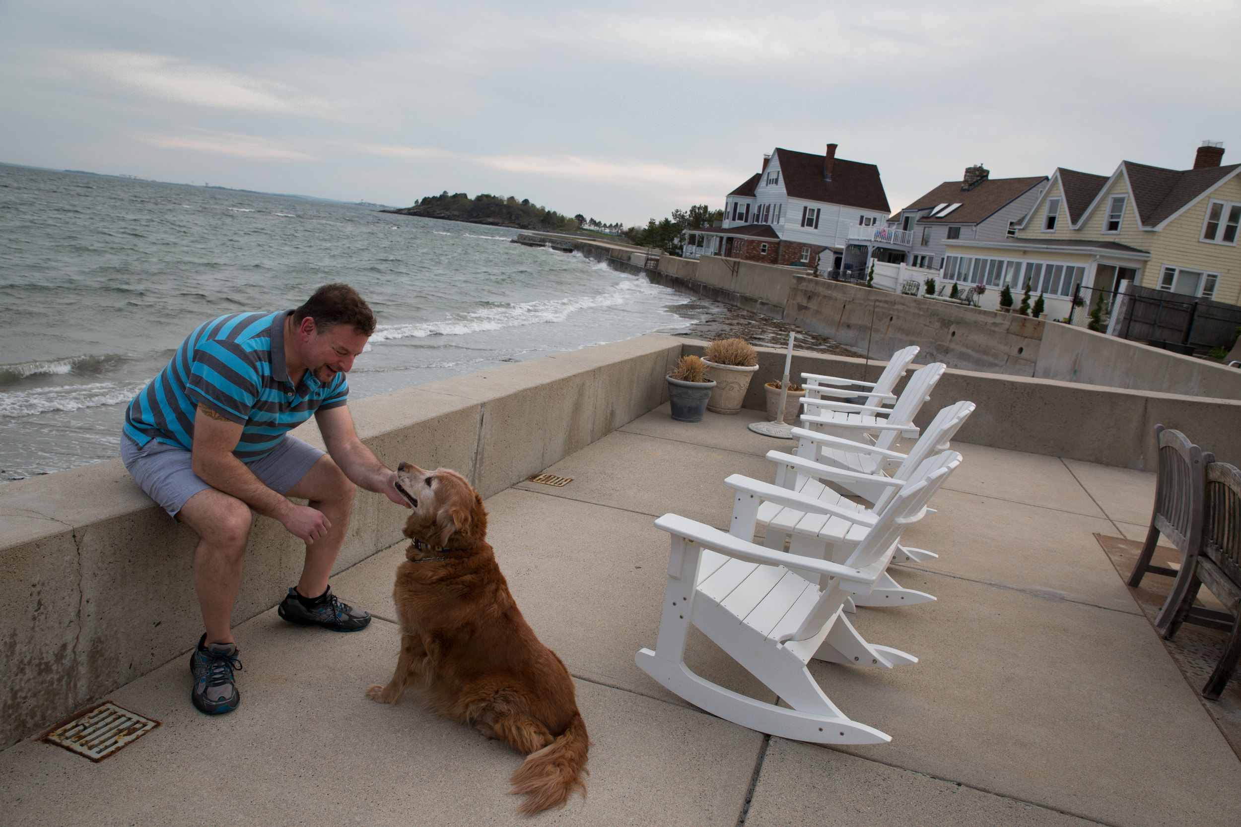 When he was first on the market for a home,Ken Carangelo didn't think he was interested in living right on the water. Now he says he's constantly weighing the risks of rising seas against the enjoyment he gets from living on the water.