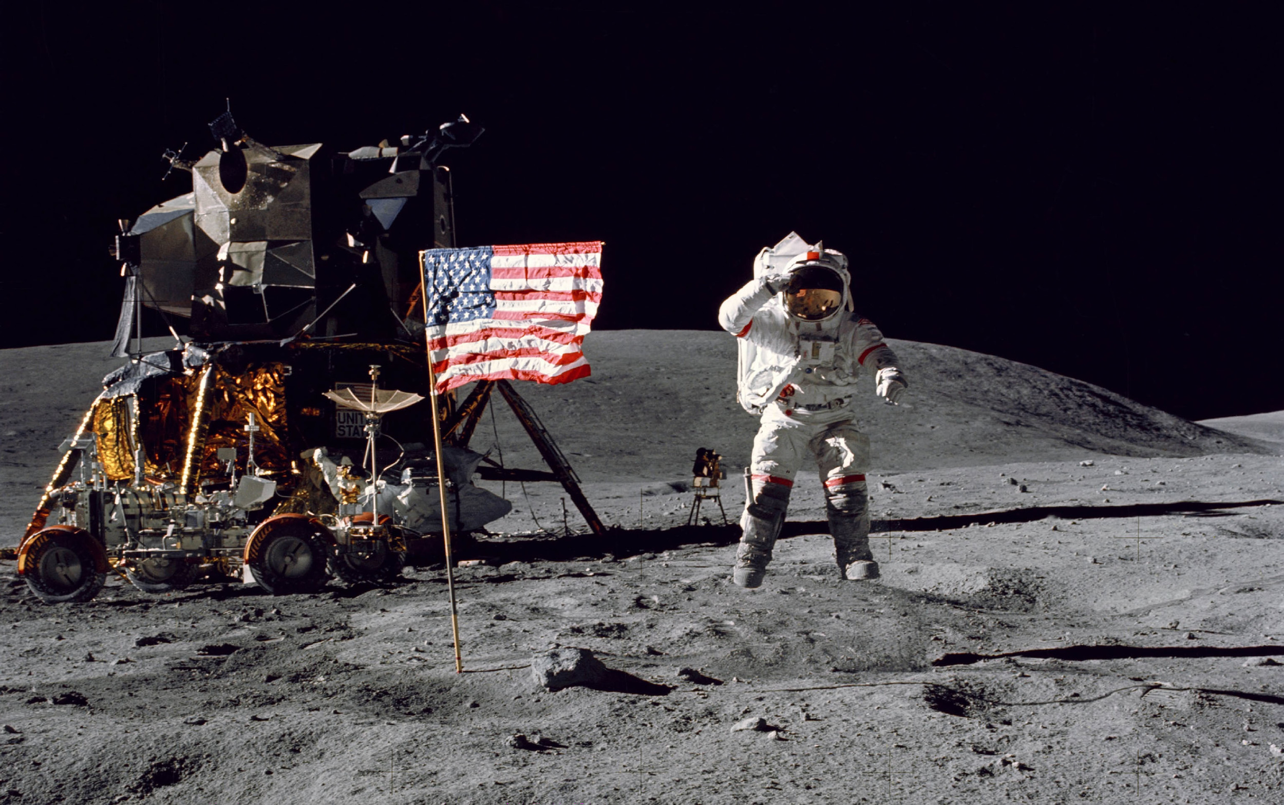 Despite planting a flag there, our laws say the moon isn't American.