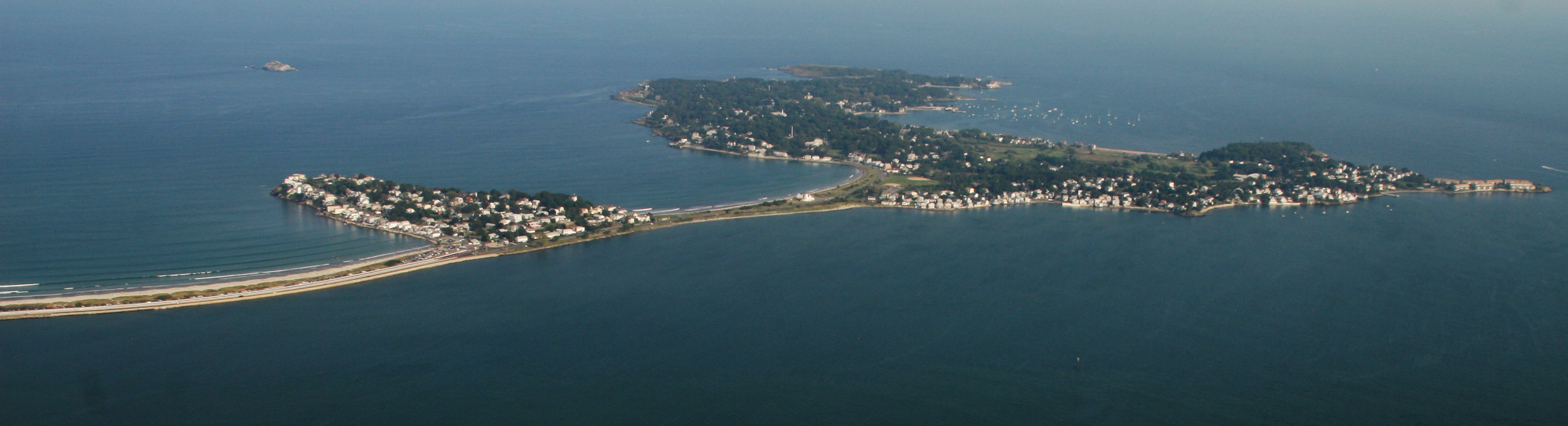 aerial view of nahant, ma