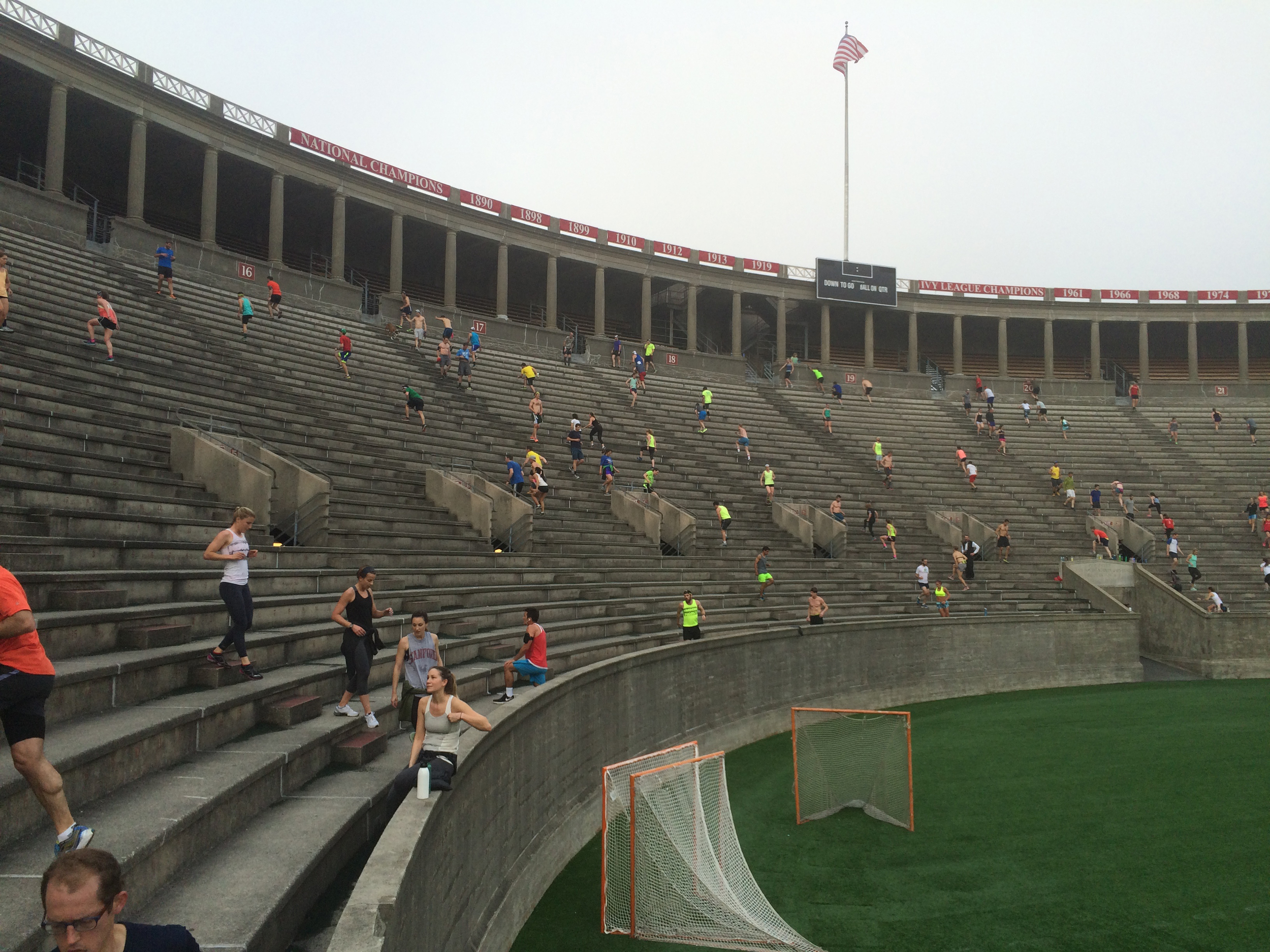 Running steps at Harvard with the November Project