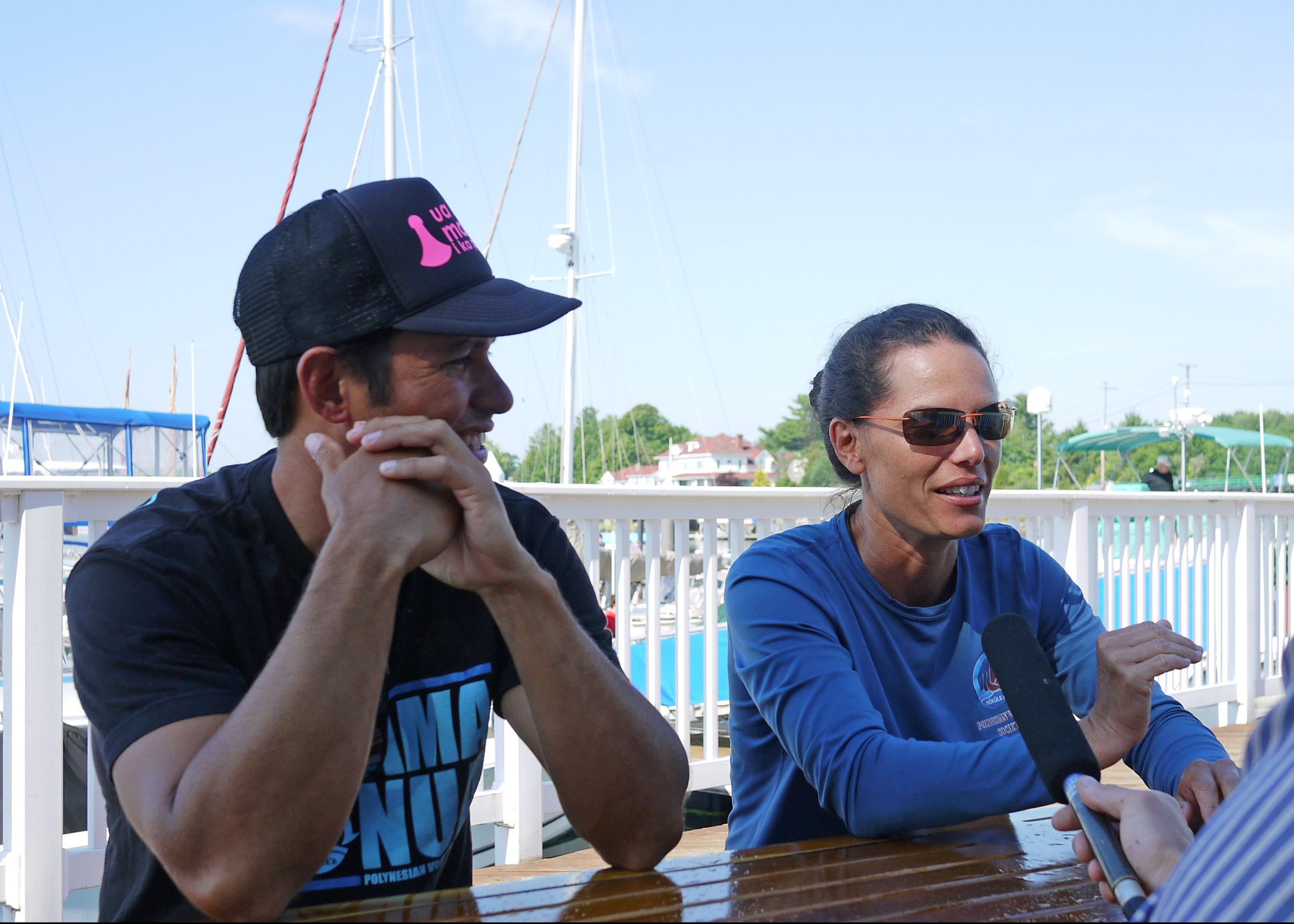 Navigators: Kaleo Wong (L) & Ka'iulani Murphy (R)