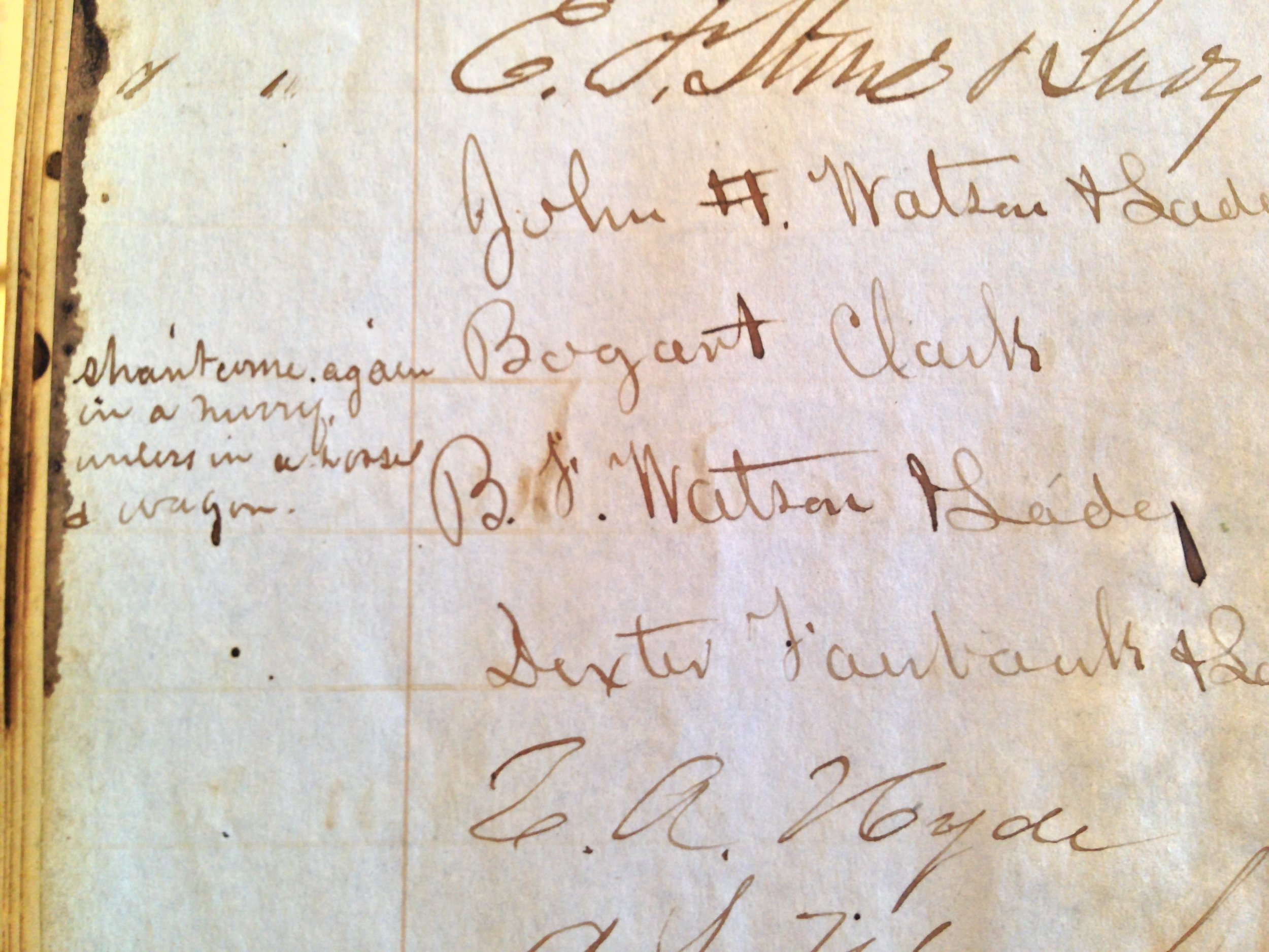 THis PHOTO is OF THE 1854 MT. WASHINGTON SUMMIT HOUSE GUEST REGISTRY, WHICH IS HOUSED AT THE NEW HAMPSHIRE HISTORICAL SOCIETY IN CONCORD, NH.