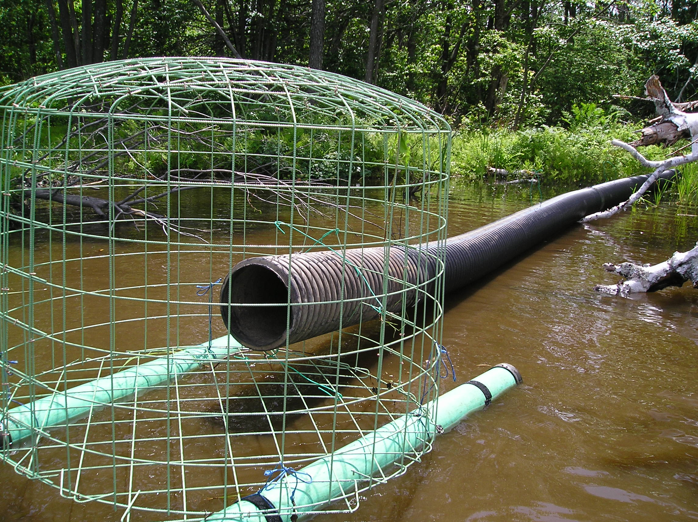 This is a pond leveler or flow device, prior to being installed. This device tricks the beaver into believing that his or her dam is working. | photo courtesy of Mike Callahan.
