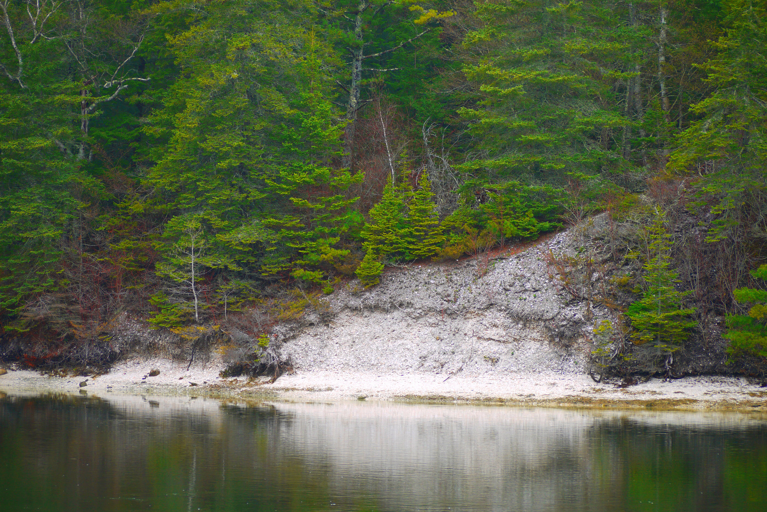 View of the Glidden Midden from the opposite shore