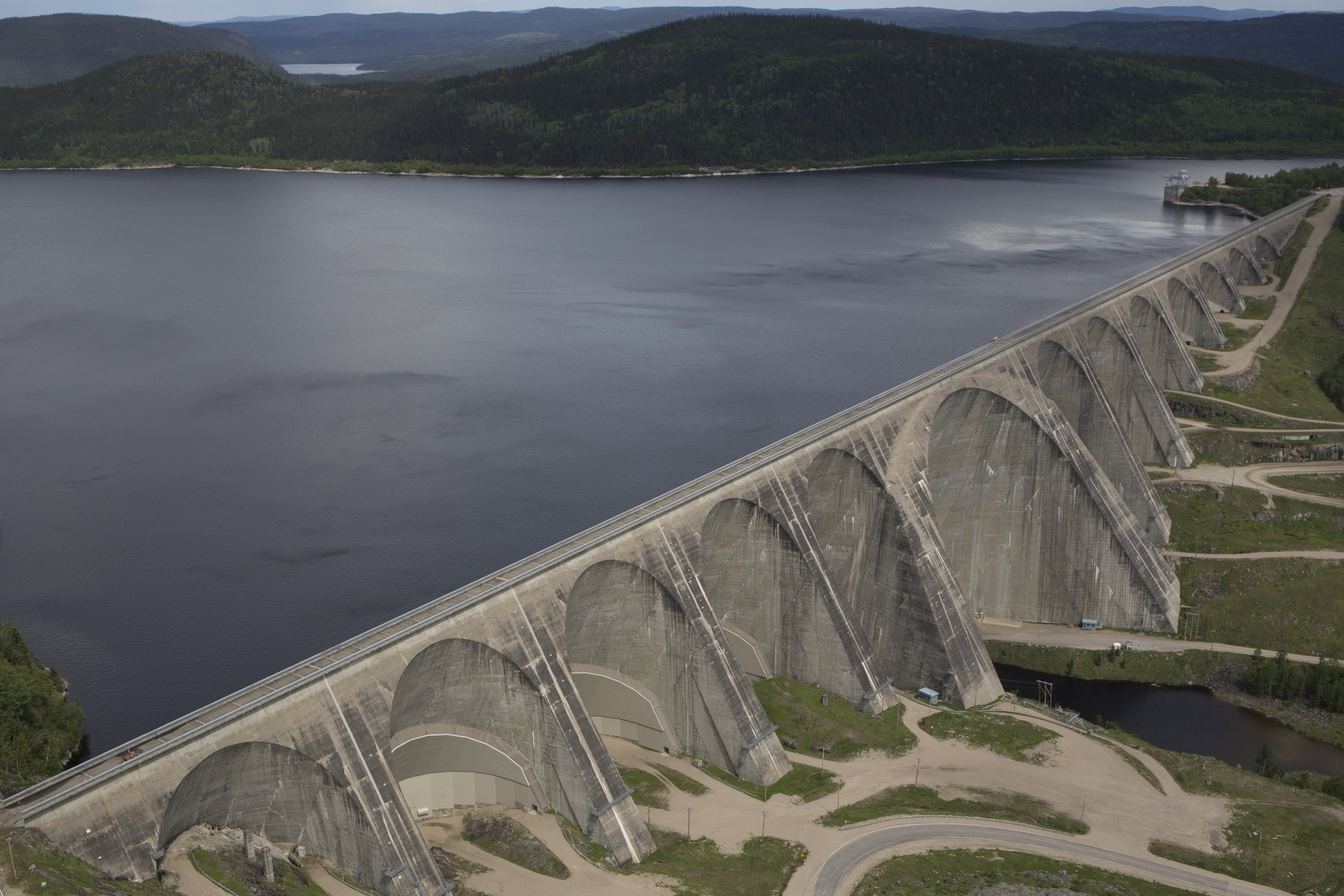 The Daniel-Johnson Dam, otherwise known as the Manic-5, on the Manicouagan River