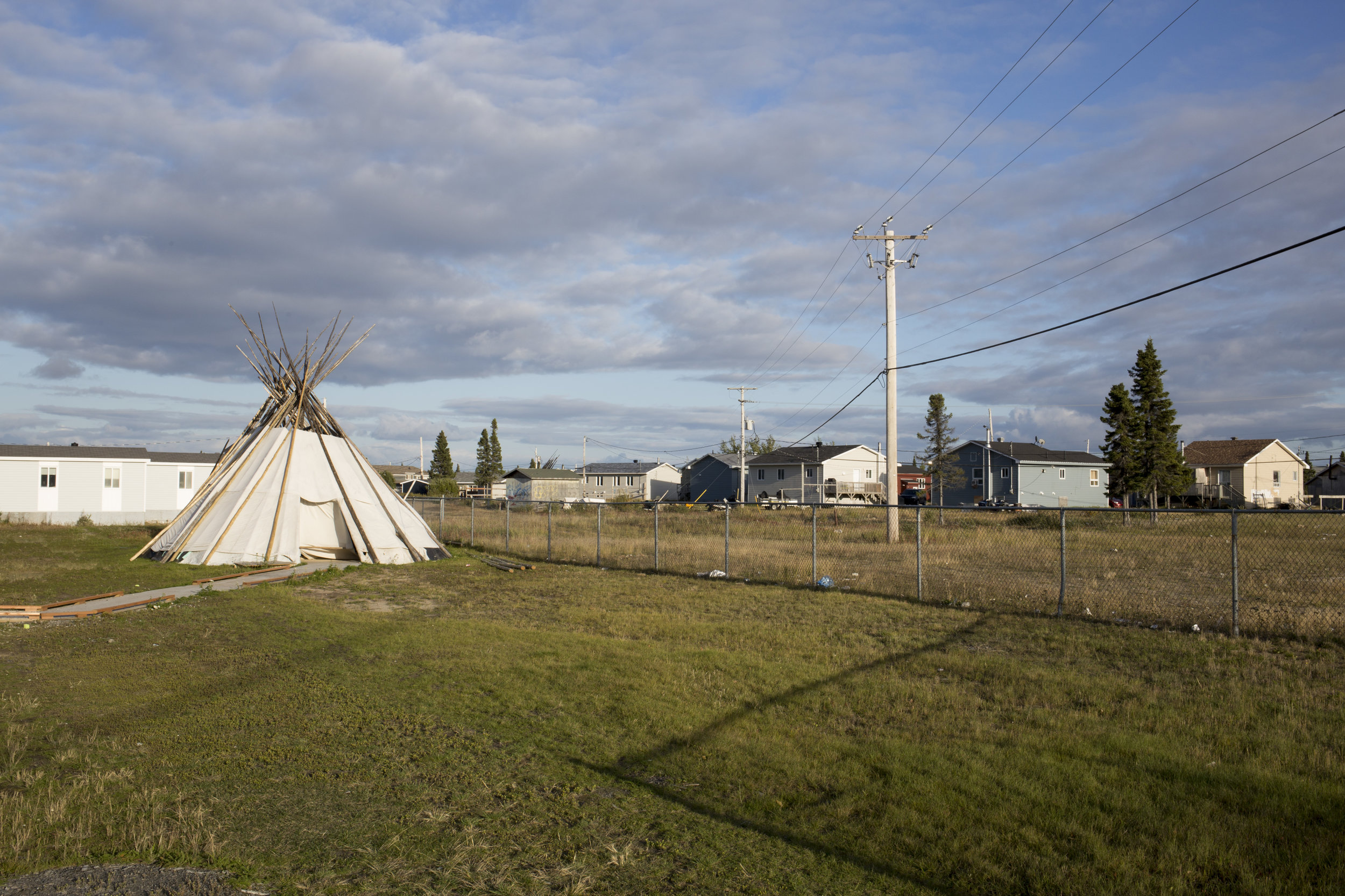 A backyard teepee in Chisasibi