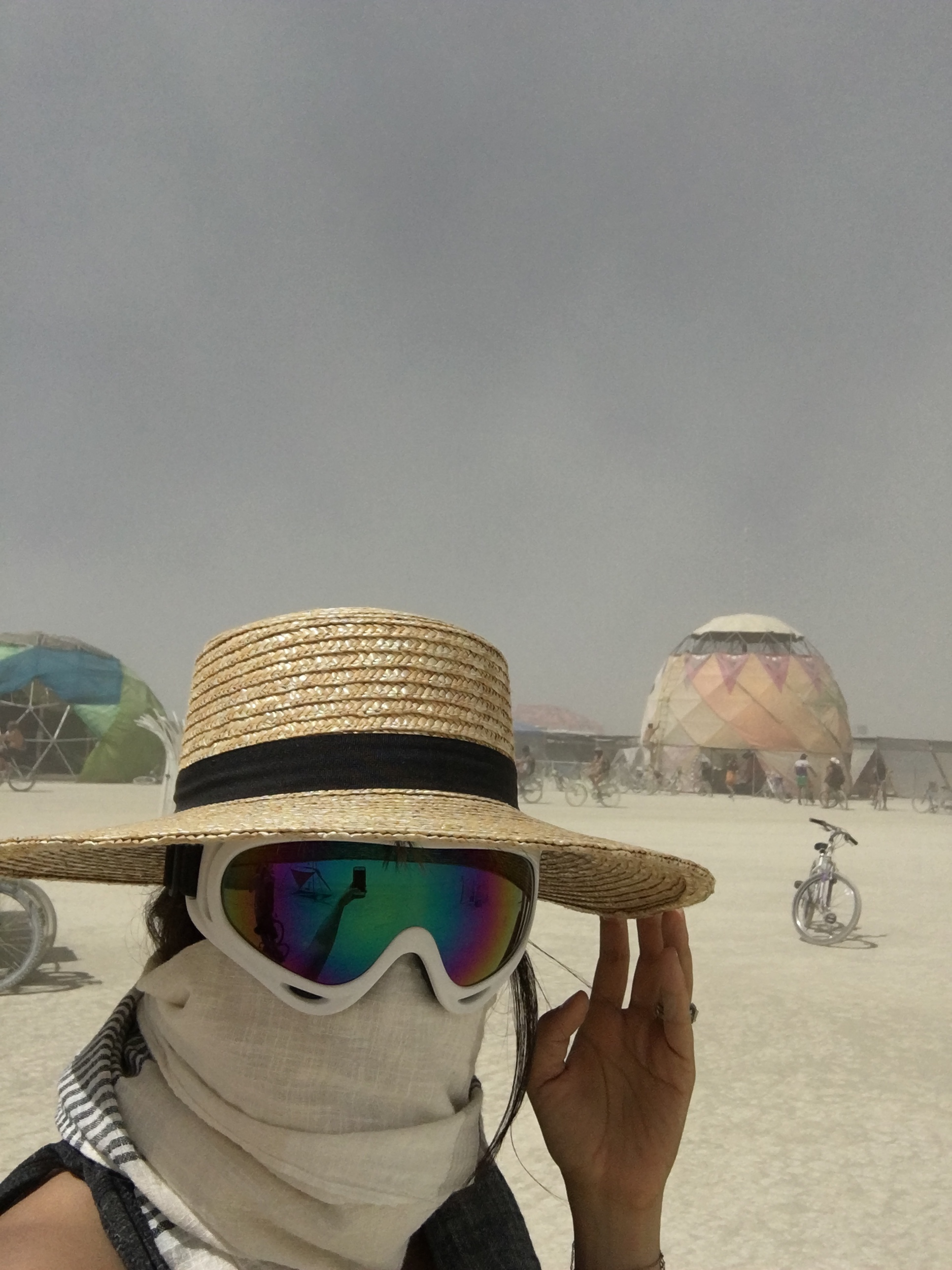 crazy dust storms means full protective gear