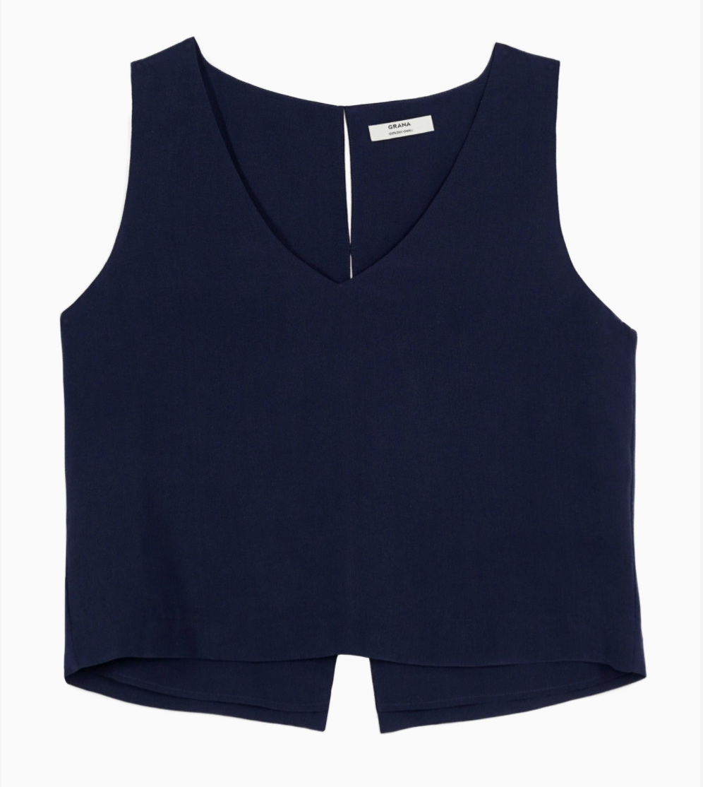 Grana Silk V-neck Cropped Tank (review coming soon)