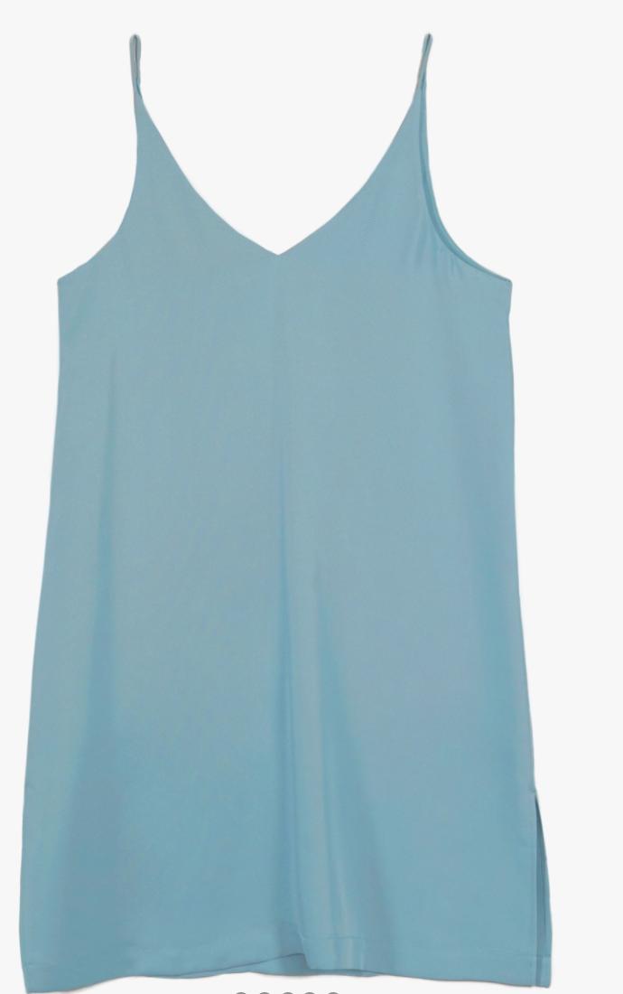 Grana Silk Mini V-neck Slip Dress Review Here