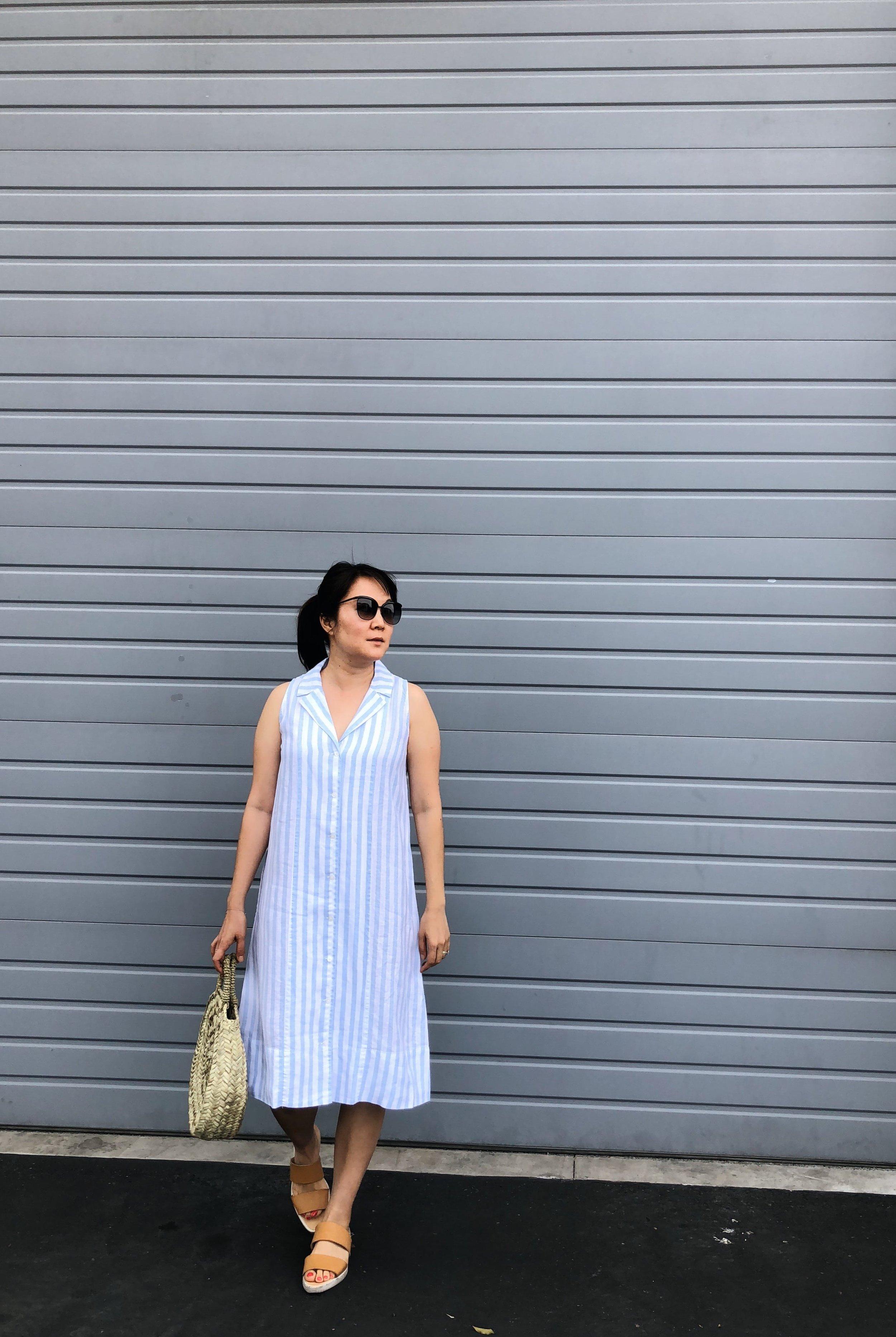 Everlane The Linen Sleeveless Shirtdress Review