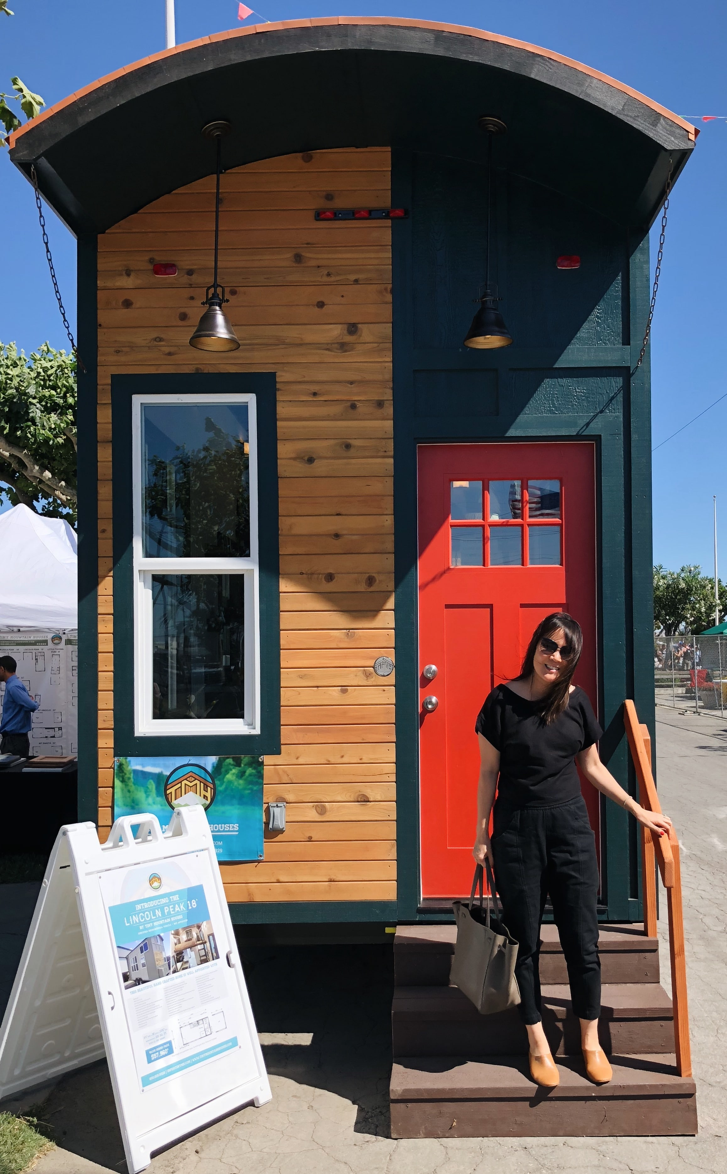 A shot from my visit to a Tiny Home Festival last weekend. Wearing my Whimsy+Row top with Elizabeth Suzann canvas Clydes