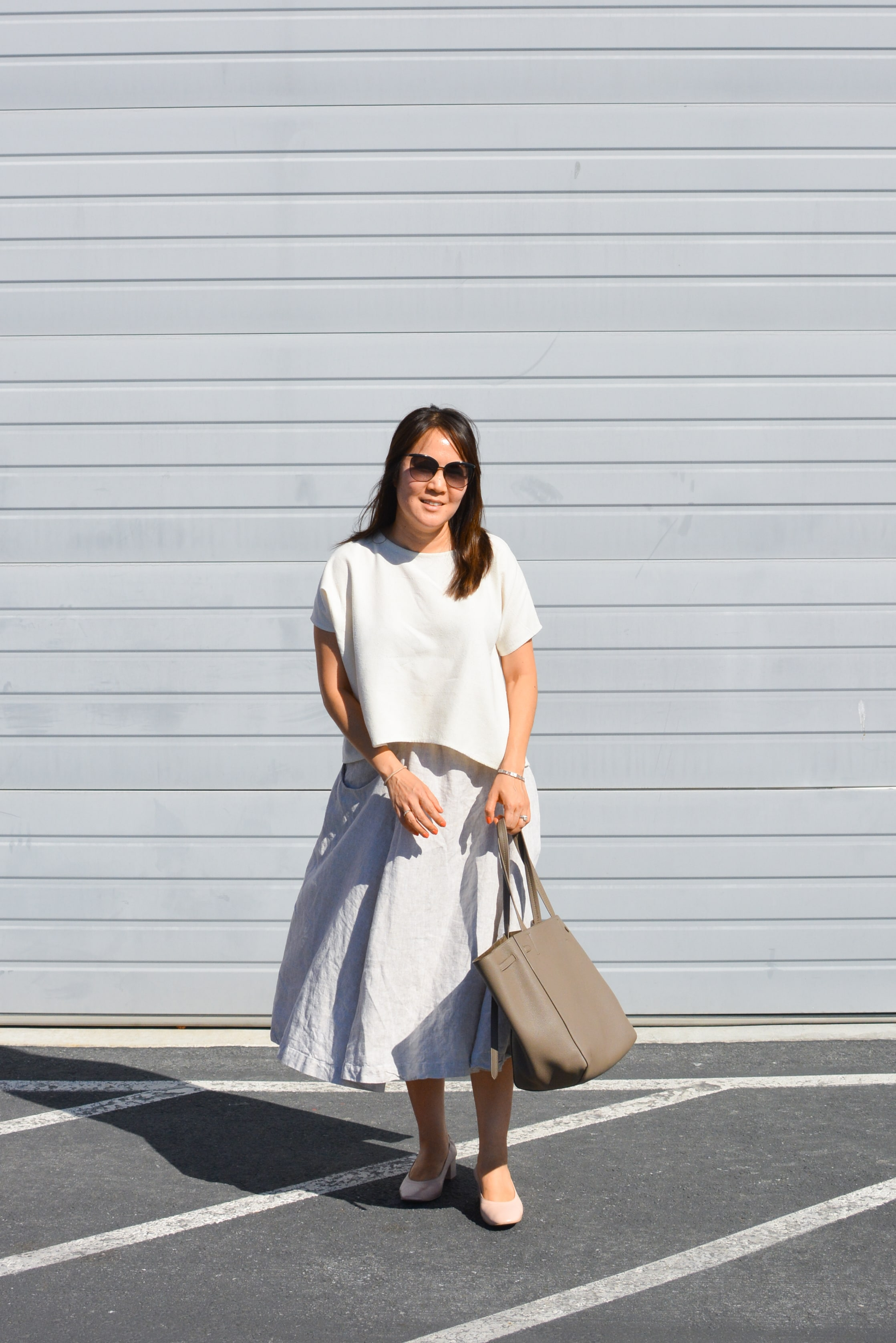 A favorite slow fashion uniform (when I could still fit into this Clyde skirt)