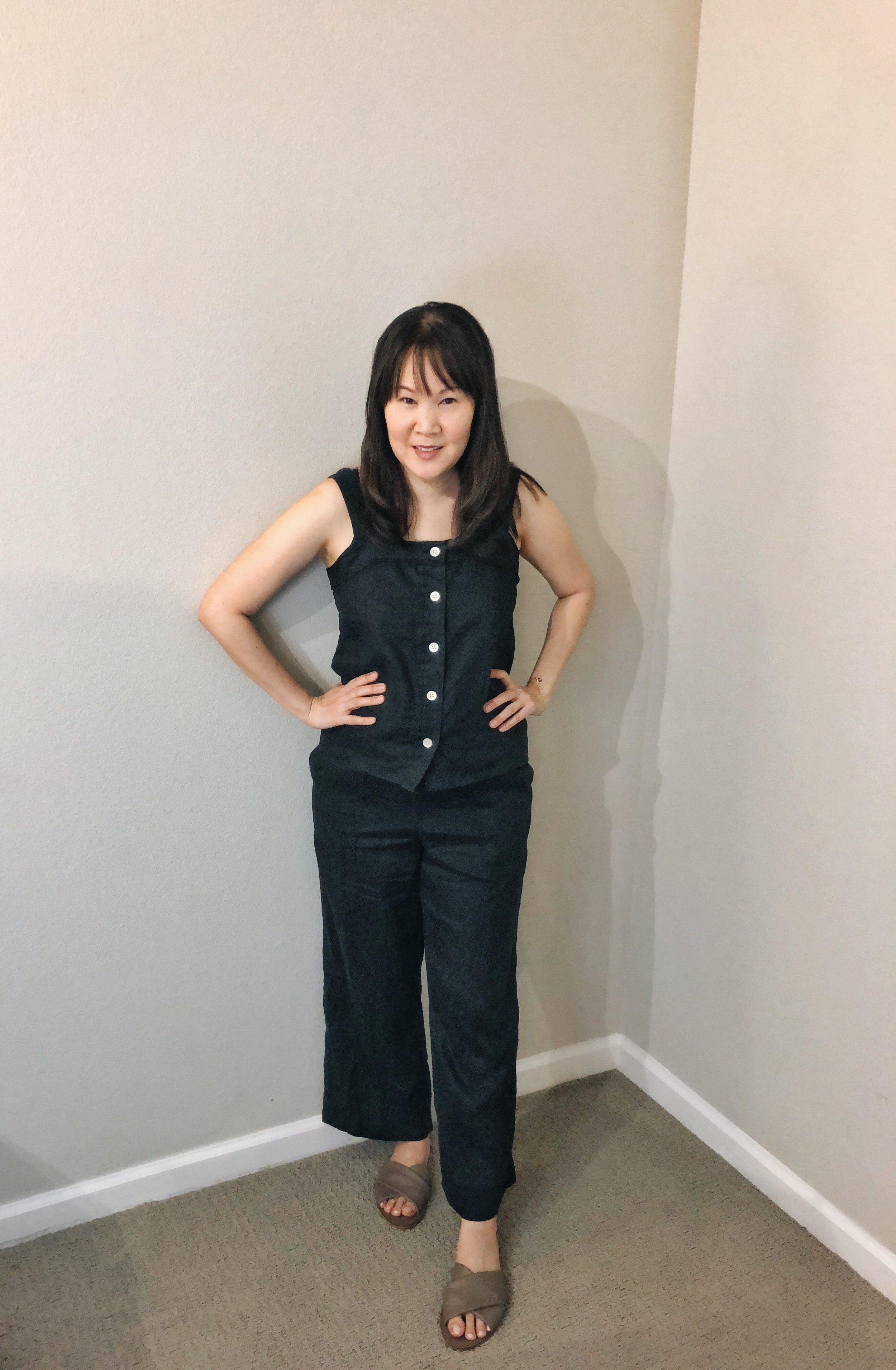 Everlane review linen picnic top and linen pants