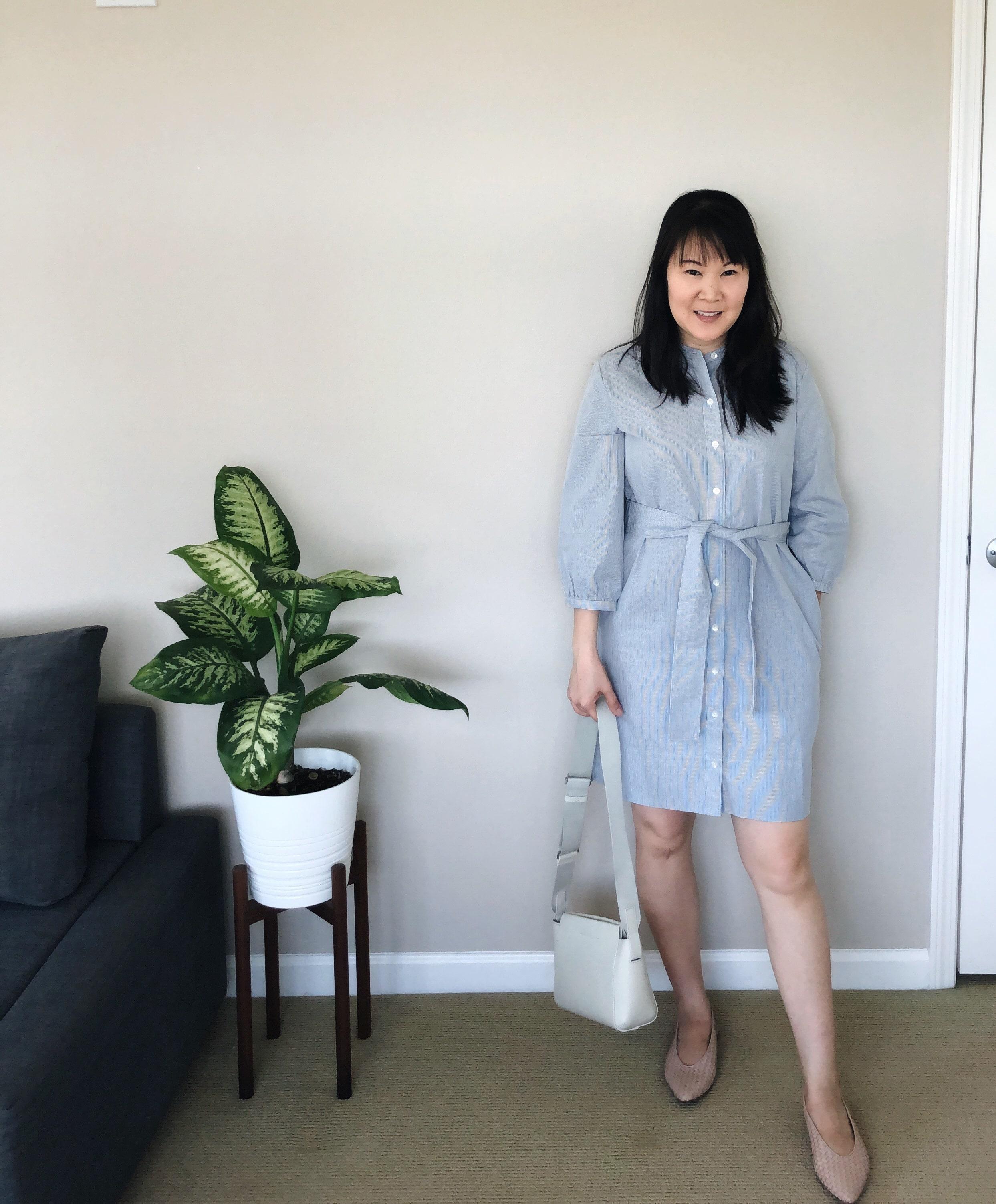 everlane review collarless shirtdress