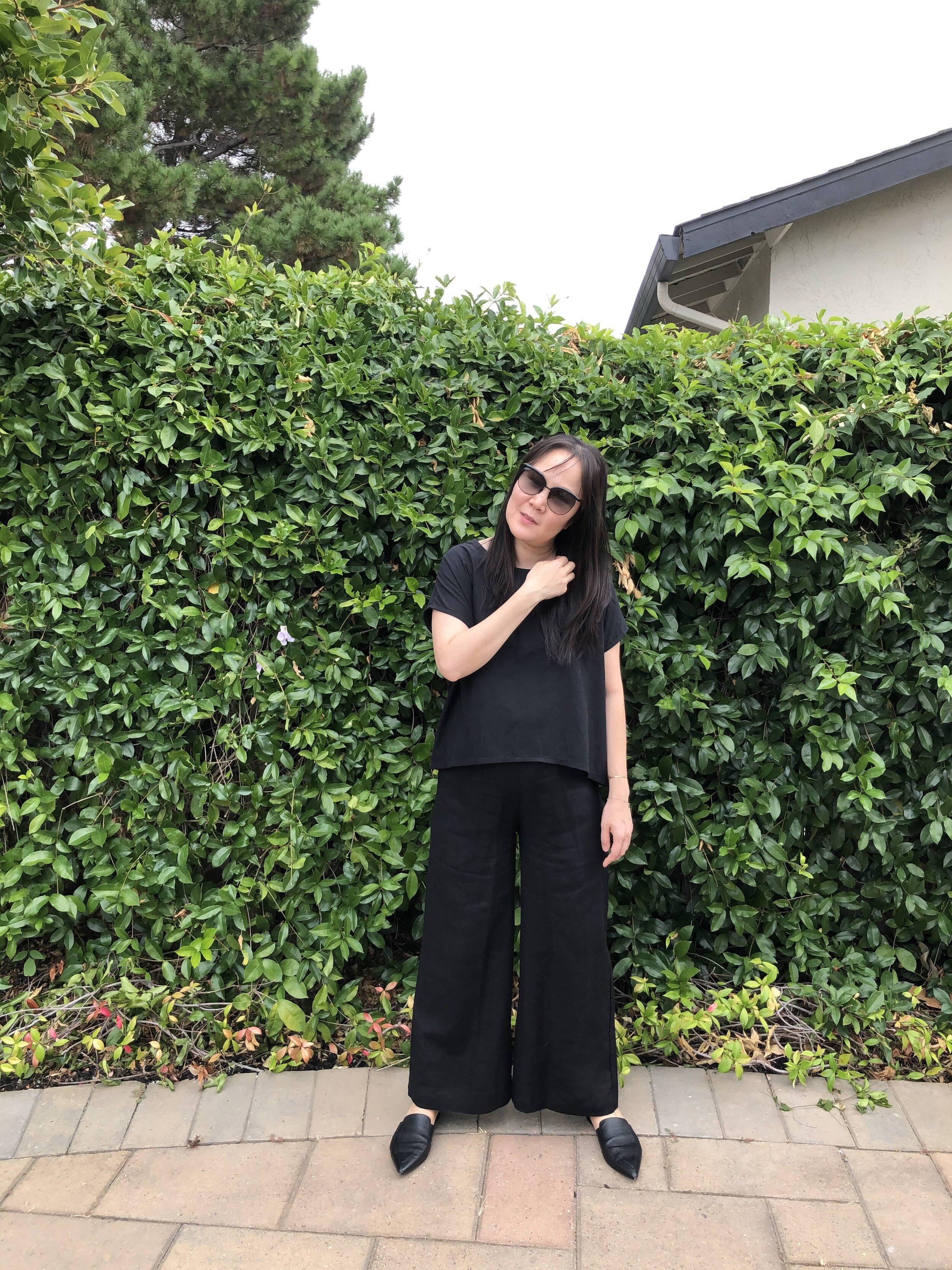 Linenfox review linen culottes
