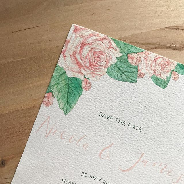 I have been working on a lovely wedding stationery set recently. The couple wanted lovely big roses and with a few tweaks we got it just right for them.