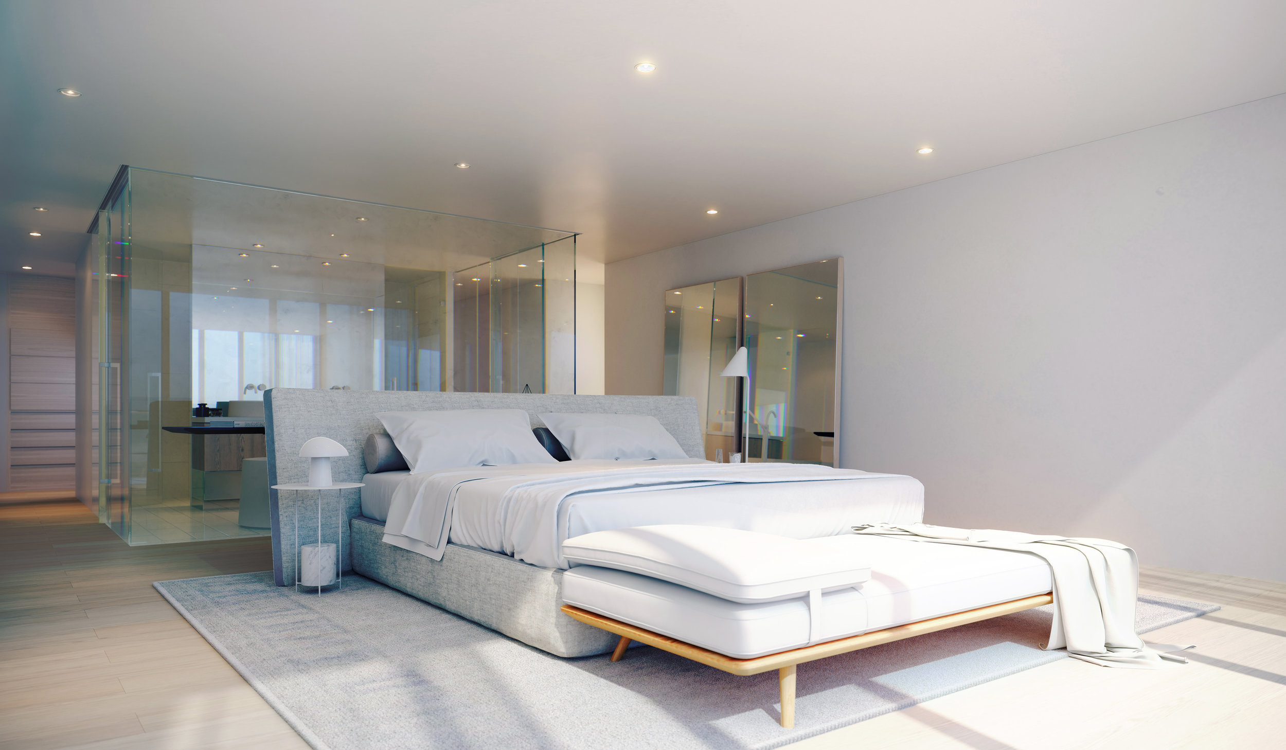 Penthouse main bedroom.