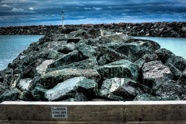 Keep off the rocks