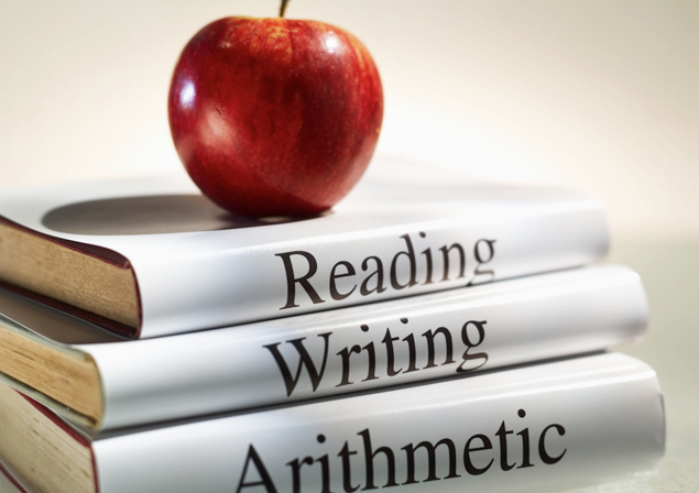 The old school three R's…those white things for you youngsters out there are called 'books.'