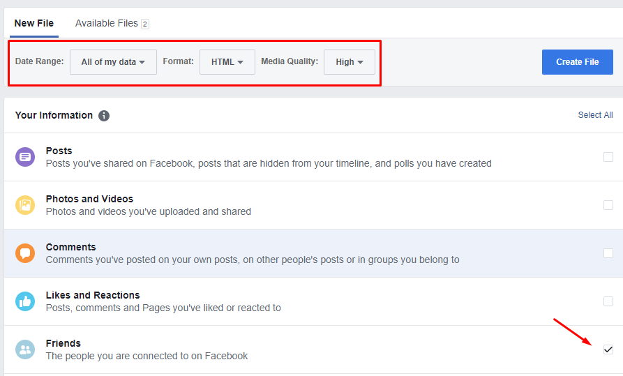 Export Contacts and Email Addresses from Your Facebook Account