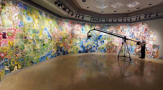 Today we're documenting 1/5th of @jerrysmap at @yorkcollegegalleries. . . . #jerrysmap #yorkcollege #art #installation #installationart #maps #map #imaginary