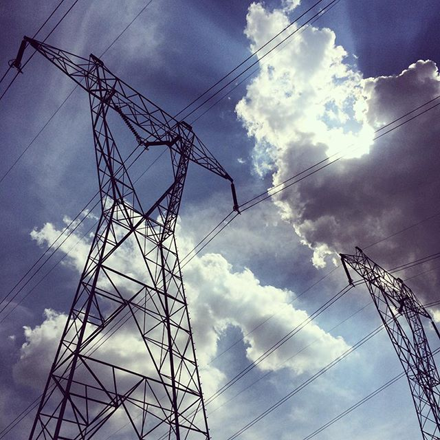 Power lines in the Hudson Valley. That's pretty much it. #infrastructure