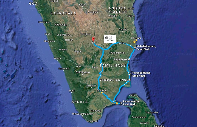 East Coast Explored - Route Map