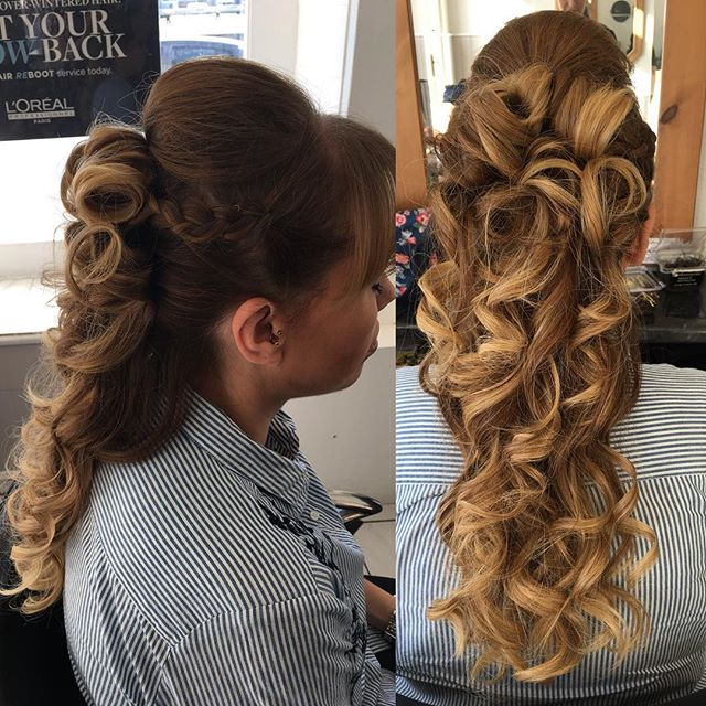 Fantastic hair up for a wedding! Stayed in all day 😀. Done by Chrissy @trimmershairdressers #hairup #hairupdo #weddinghairstyle