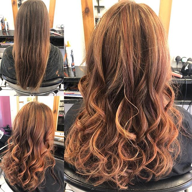 From drab to fab!!! Great change from dull hair to vibrant reds and warm blonde. Done by Chrissy @trimmershairdressers  #drabtofab #vibrantreds #warmblonde