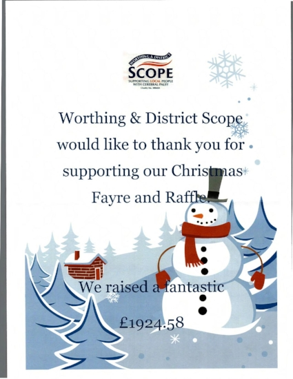 Scope Thank you for Trimmers Donation