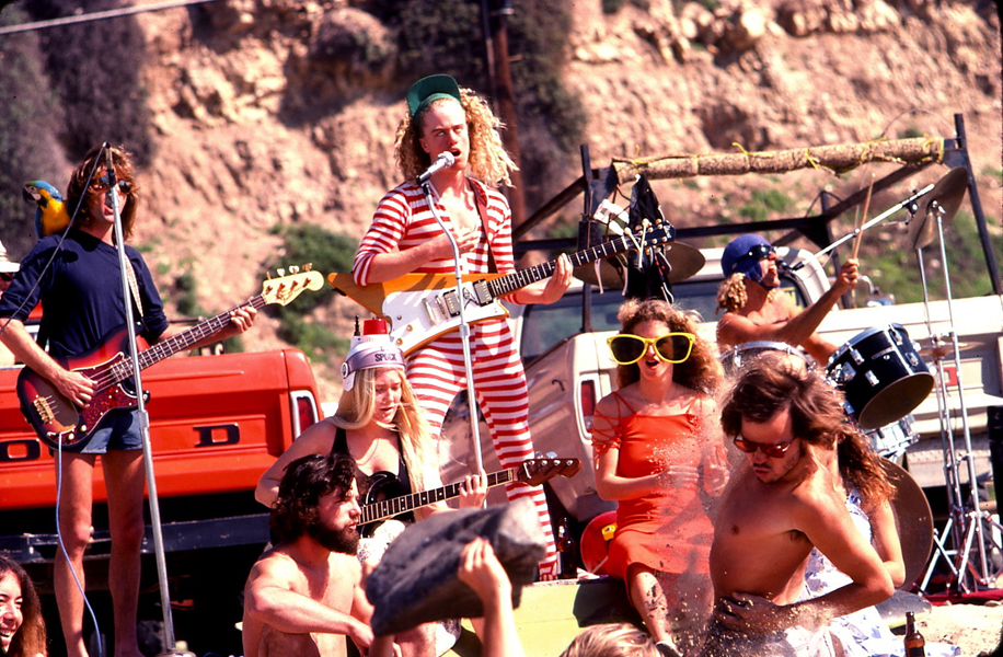 """Kevin's band """"The Surf Punks"""" perform in Malibu circa. 1970"""