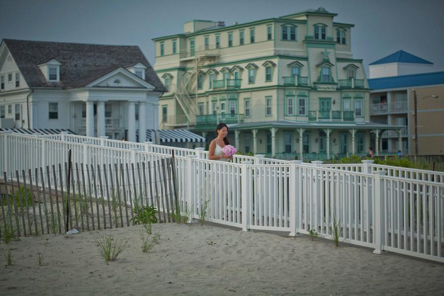 Cape May beach wedding photography
