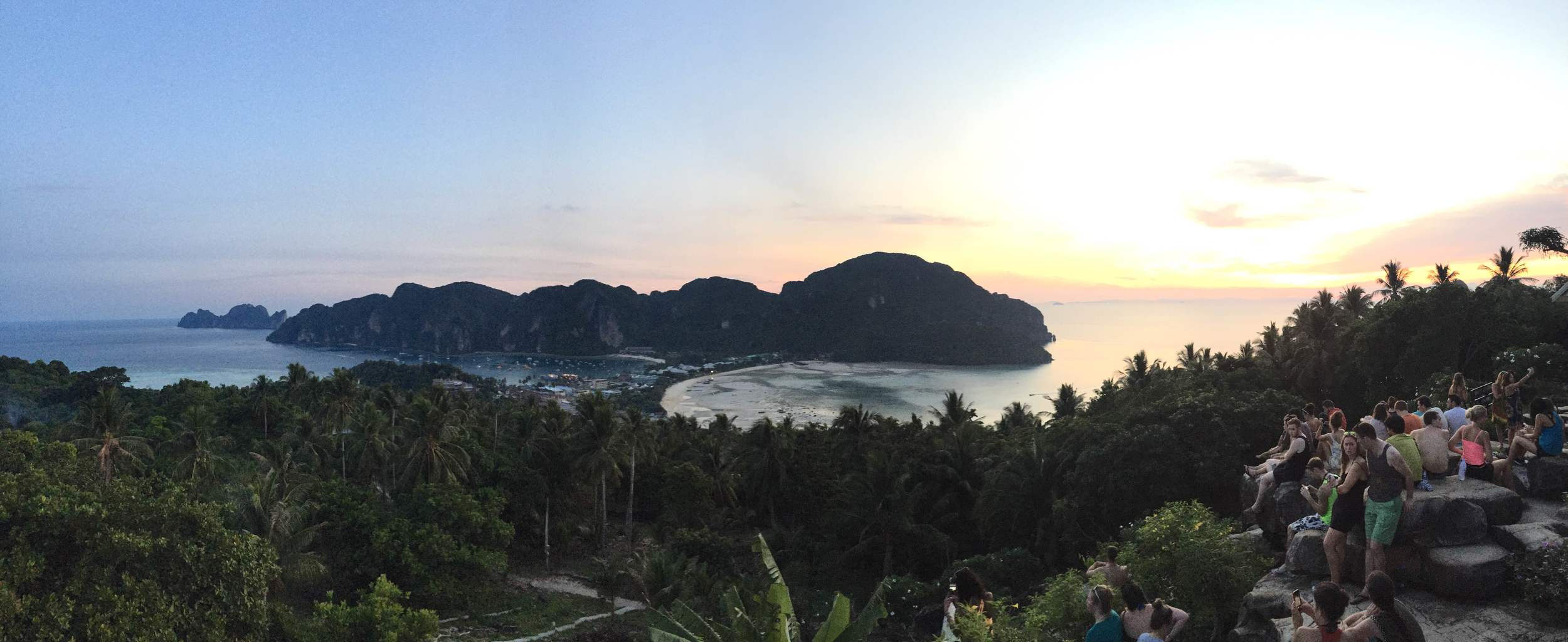 A view of Ko Phi Phi Island from the highest viewpoint.