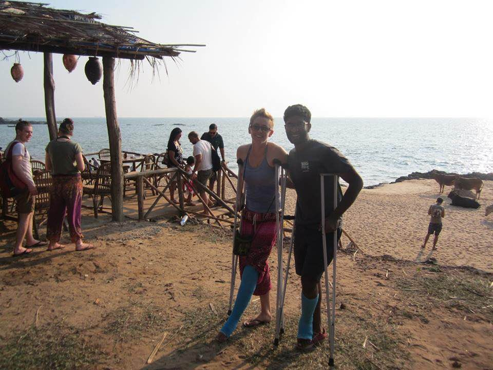 The other guy on the bike and me in Goa the day before I left to head home to Denver.