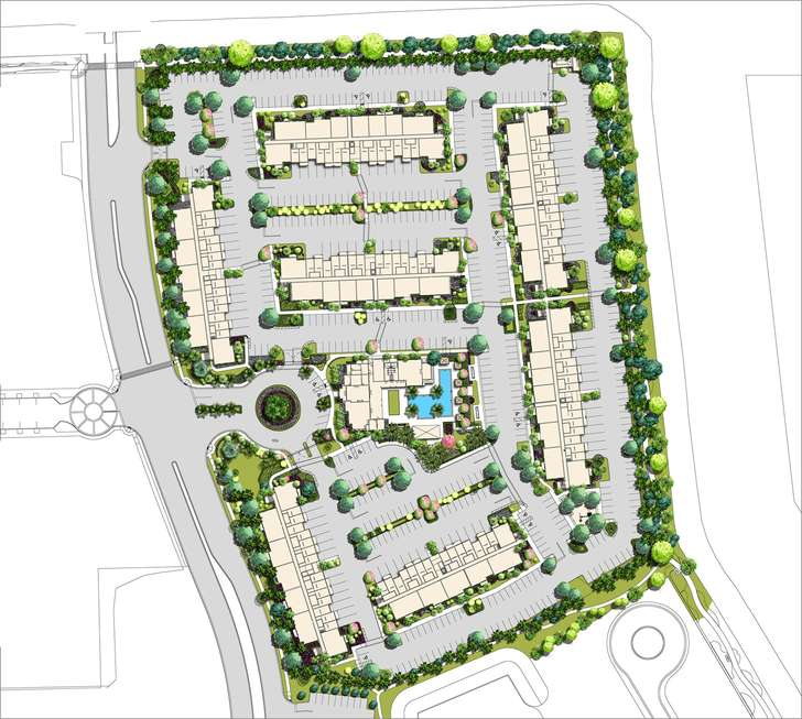 Site plan of apartments at Cortina. Photo handout: Ram Real Estate