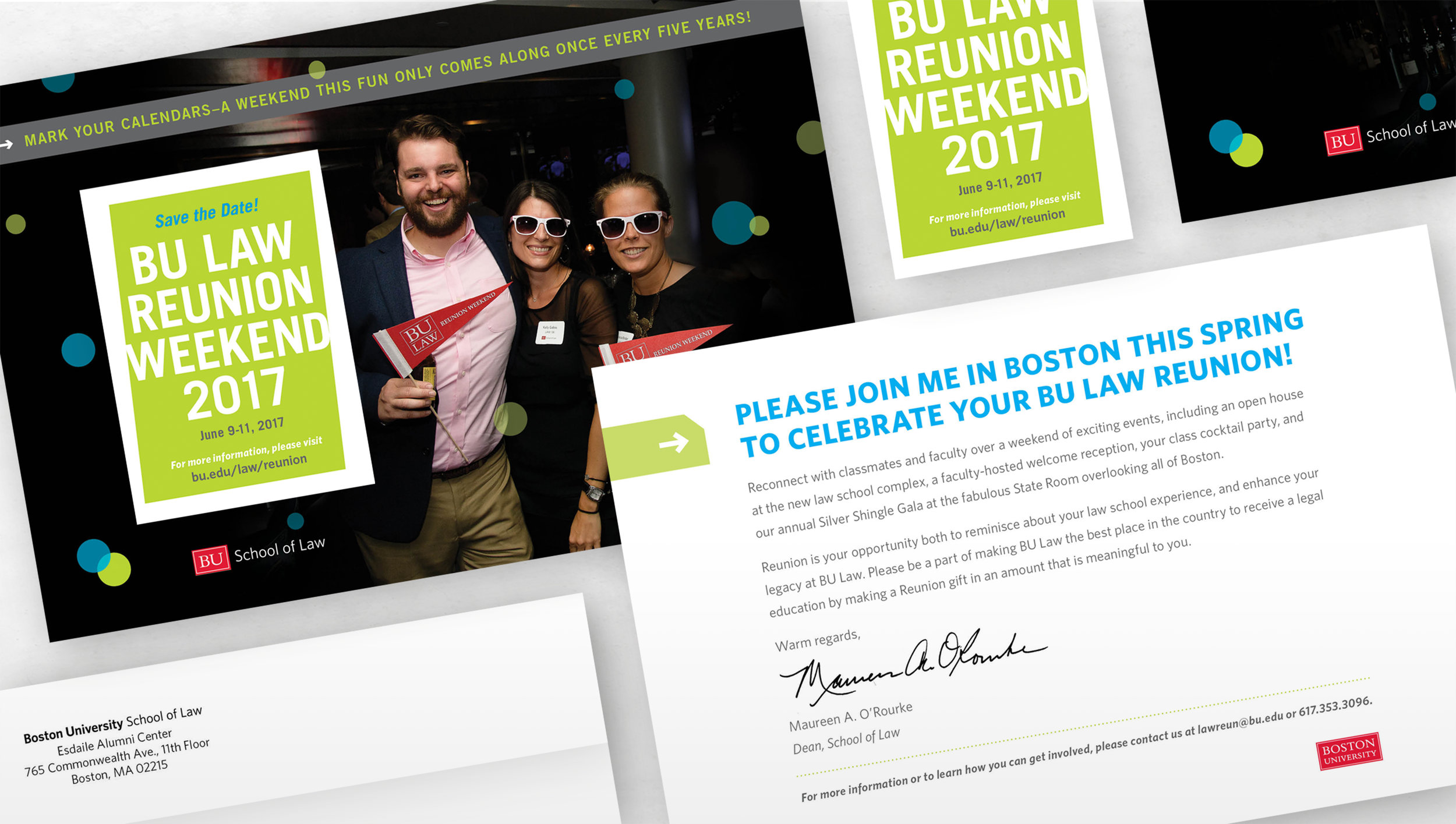 Kate Cunningham Design // BU LAW Reunion Materials // Collateral // Save the Date and Magnet.jpg