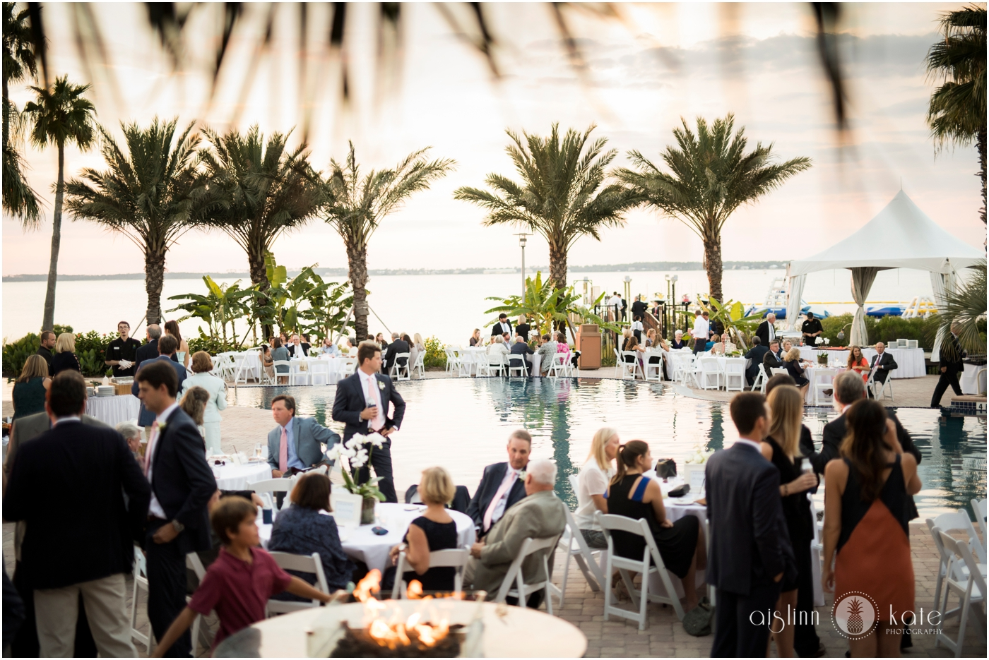 Portofino Island Resort  | Lower Pool Deck |  Caroline + Joiner