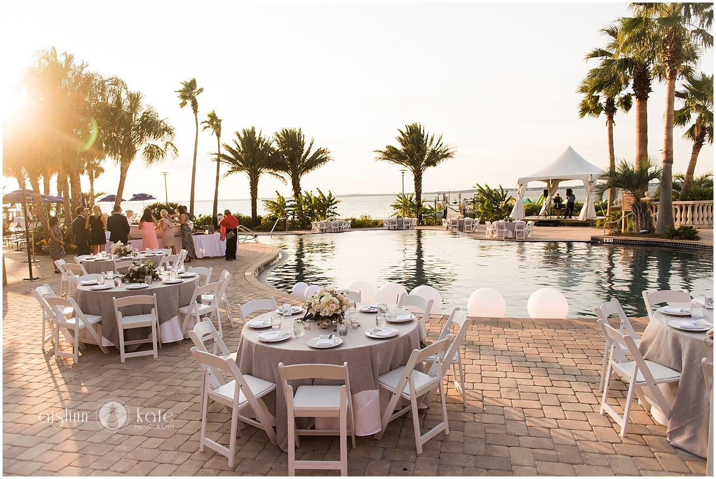 Portofino Island Resort  | Lower Pool Deck |  Caroline + Sam