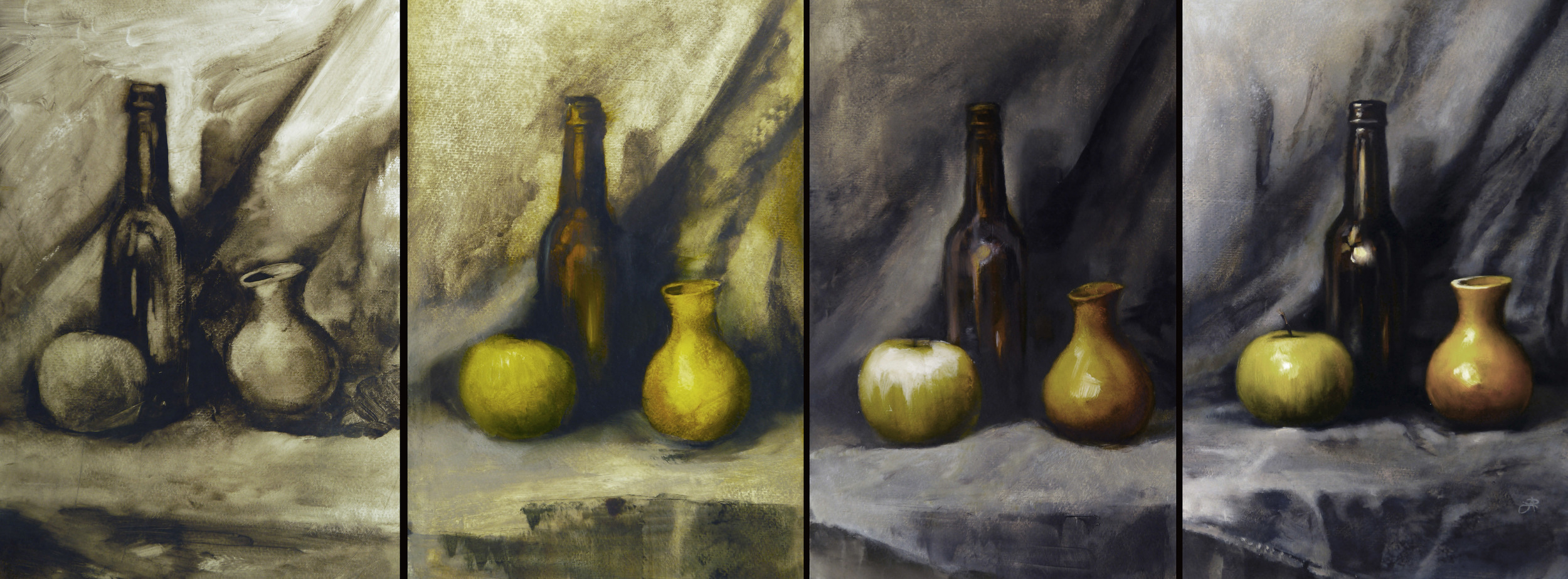 Indirect Traditional Oil Painting Process