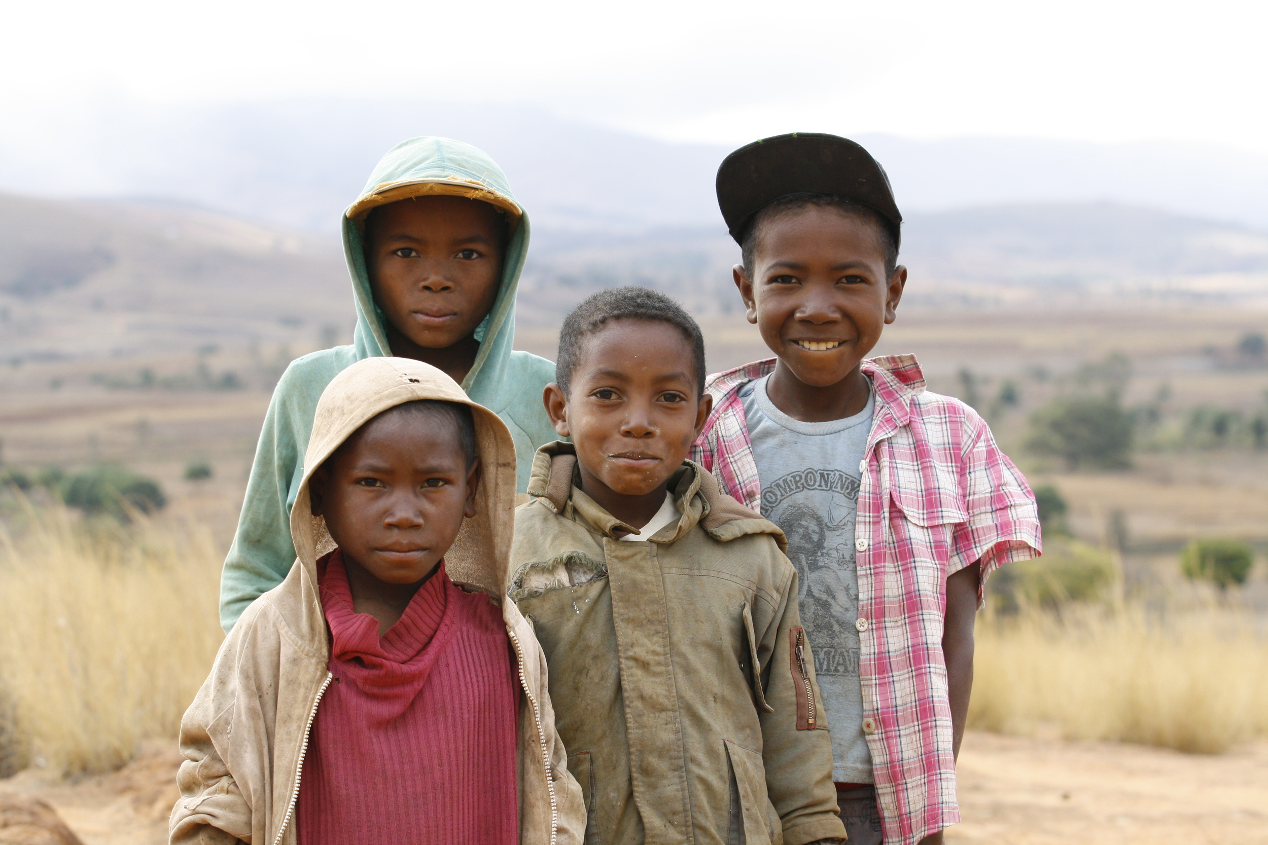 Malagasy children near Ambalavao, Madagascar